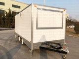 2018新型オーストラリアの標準ファイバーガラスの移動式食糧トレーラー