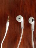 Fone de ouvido estereofónico branco com o Mic para o fornecedor dos auriculares do telefone móvel