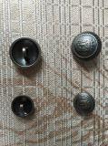 Logo personnalisé métallique creuse la queue d'or à coudre les boutons de mode