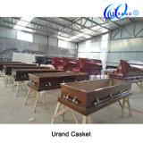 Cofanetto di legno adulto verniciato bara poco costosa di alta qualità dei fornitori della Cina