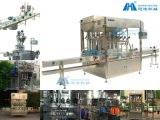 가득 차있는 Automatic Filling Capping 및 Labeling Machine