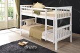 ホーム家具の子供のための白いカラーの固体マツ木二段ベッド