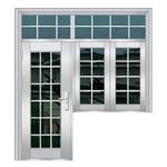باب /Stainless فولاذ باب /Entrance [دوور/] نافذة (6729)