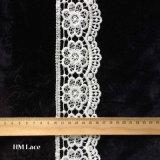 Tela bordada Sewing floral Eco L103 de tingidura amigável do aparamento do laço