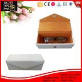 Blanca suave de la PU de cuero magnética de gafas de sol caja de regalo (1158)