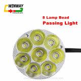 Il motociclo parte lo stoppino chiaro capo della lampada dell'indicatore luminoso anteriore LED