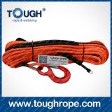 Marine Winch Dyneema Synthetic 4X4 Winch Rope avec crochet Doublure en paquet emballée comme ensemble complet