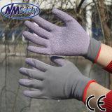 Nmsafety 13G полиэстер, покрытая оболочкой, перчатки Crinkle Латекс Садоводство Работа