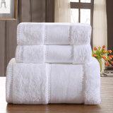 100% хлопок белый роскошные полотенца отеля банными полотенцами.