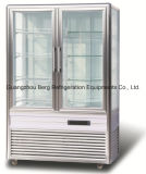Commercial 4 Sides Upright Vertical Glass Cake Display Refrigerador