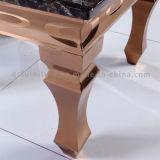금 프레임 엔드 테이블을%s 가진 현대 대리석 옆 테이블
