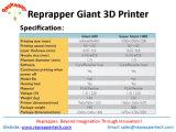 Reprappertech Rapid Prototype Ultibot-Gigante 600 Fdm Impressora 3D Impressora Gigante 3D Impressora de tamanho grande