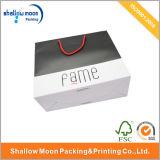 Хозяйственная сумка горячего сбывания белая и черная ручки бумаги (QY150011)