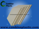 Plástico de PVC de color blanco marfil de la junta de la puerta de Baño