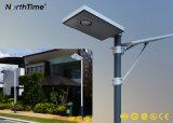Indicatore luminoso di via solare tutto compreso bianco freddo del LED per illuminazione del giardino