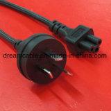 cable eléctrico aprobado negro del 1.5m SAA Australia con IEC C5