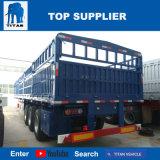 Acoplado del transporte de contenedores del carro del cargo de la cerca del árbol del titán 3 semi