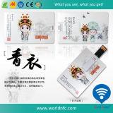 2G, 4G, 8G, 16G tarjeta de visita USB personalizada impresión ABS Flash Drive de regalo