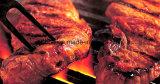 Email dat om BBQ van de Draad van het Staal het Net van de Grill met een laag wordt bedekt