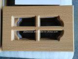 終了するMDFのボードPVCガラス食器棚のドア