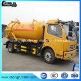 Dongfeng 4*2 8000L veículo de sucção a vácuo de esgotos