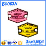 カスタム安い金属のロゴの札の魅力Keychain