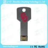 Wasserdichtes silbernes Metallaluminiumschlüsselform USB-Blinken-Laufwerk (ZYF1733)