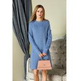 2018 جديدة تصميم نساء حبك أسلوب طويلة كنزة ثوب بيع بالجملة