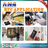 カスタム印刷13.56MHz Ntag213 NFCの熱ペーパーステッカー