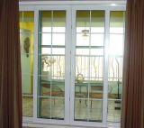 Гриль высшего качества проектирования UPVC дверная рама перемещена дверь для коммерческого районов Люцзяцуй здание