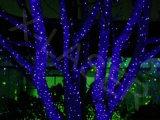 Сад перемещение лазерного излучения RGB водонепроницаемый Firefly фонари