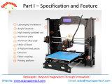 Impressora 3D Desktop da impressora da impressora DIY 3D de Reprappertech Prusa I3 3D