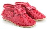O bebé Toddler PU calçado de couro Moccasins serpentina com Novo Design