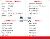 batterij 6volt 1.2AMP VRLA voor het Licht van de Flits