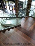 Gemaakt in China 304 de Houten Trap van het Glas van het Roestvrij staal