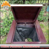 Aangepaste Vuilnisbak van het Metaal van het Gebruik van de Bak van het Afval van het bureau de Binnen en OpenluchtVuilnisbak