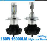 A luz de LED auto H4 e 50W carro com faróis LED H7 Farol de LED