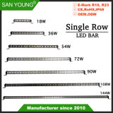 12V/24V 18W 36W 54W 72W 90W 108W 126W 144W, simple rangée bar lumineux pour LED Cree