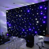 Hochzeitsfest-Disco-Dekoration-blauer weißes Licht-Stern-Vorhang-Tuch-Hintergrund