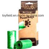 Sacola para cães Poop Saco de plástico com perfume para animais de estimação