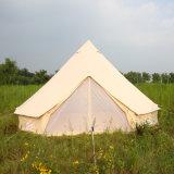Wasserdichte Segeltuch-Familien-kampierendes Rundzelt-Inder-Zelt der Baumwolle2018