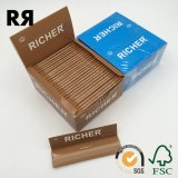 papier de roulement non blanchi de la cigarette 14GSM (de Brown)