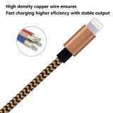 para el cable de carga del relámpago del iPhone cuerda de nylon tejido al cable de la carga del USB