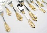 왕 가스 순은 금 두 배 색깔 저녁식사 세트