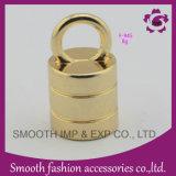 Grampo e bujão da extremidade do cabo do metal do ouro para bolsas
