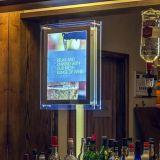 LED Display acrílico China, gabinete del vino con bombilla LED