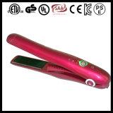 Enderezadora recargable del pelo de la mini batería plana portable del hierro del uso del recorrido
