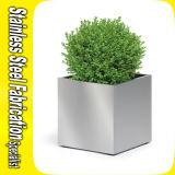 正方形プランター鍋のステンレス鋼の庭の植木鉢