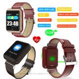 Montre colorée de l'écran tactile vieille GPS avec le moniteur du rythme cardiaque (D28)