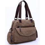 Lienzo de moda bolsos de mensajero de la bolsa de pañales pañales